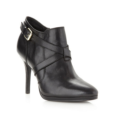 J by Jasper Conran - Designer black buckle high shoe boots