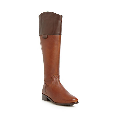J by Jasper Conran - Designer tan leather knee length boots