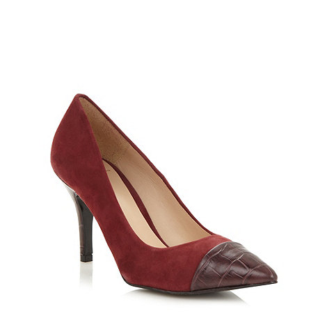 J by Jasper Conran - Designer wine suede toe cap high court shoes