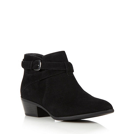 H! by Henry Holland - Designer black crossed strap ankle boots