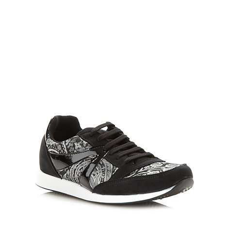 H! by Henry Holland - Designer metallic lace up trainers