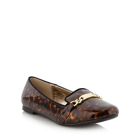 H! by Henry Holland - Designer brown animal patent pumps