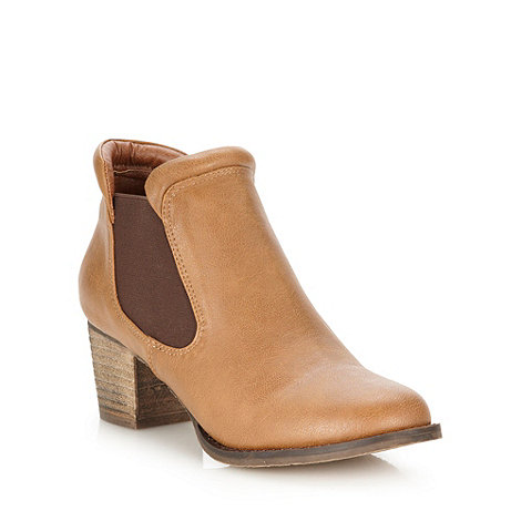 RJR.John Rocha - Designer tan mid chelsea boots