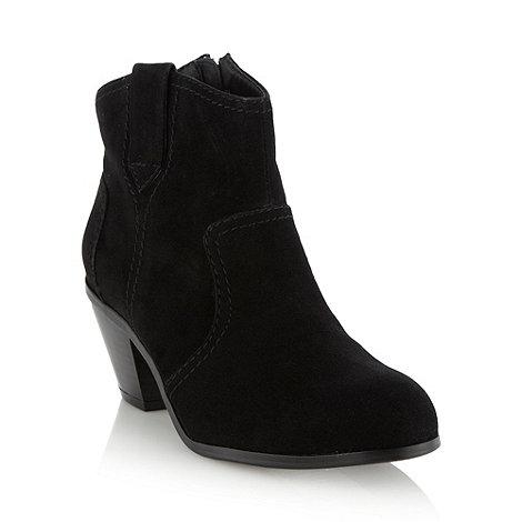 RJR.John Rocha - Designer black mid heel ankle boots