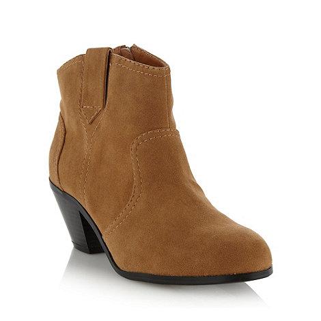 RJR.John Rocha - Designer tan mid heel ankle boots