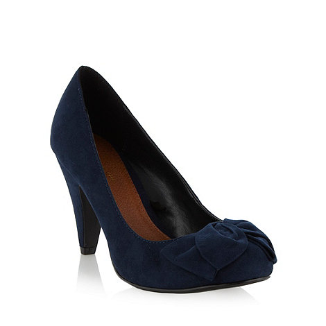 RJR.John Rocha - Designer navy bow high court shoes