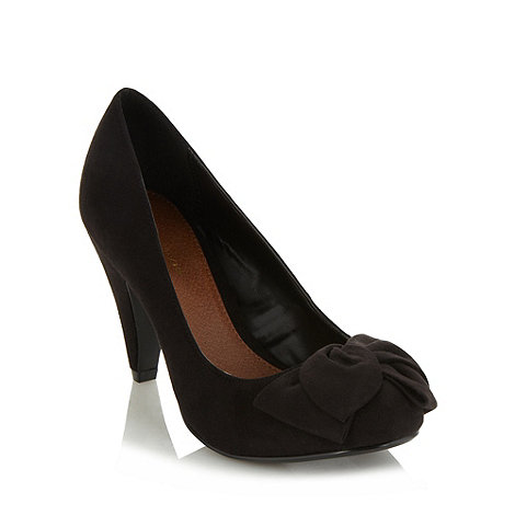 RJR.John Rocha - Designer black bow trimmed high court shoes