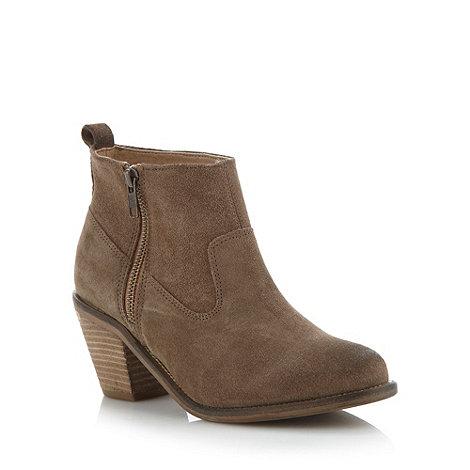 RJR.John Rocha - Designer taupe mid heel ankle boots