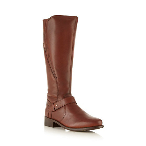 RJR.John Rocha - Designer tan leather knee length boots