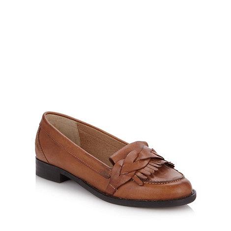 RJR.John Rocha - Designer tan leather woven strap moccasins