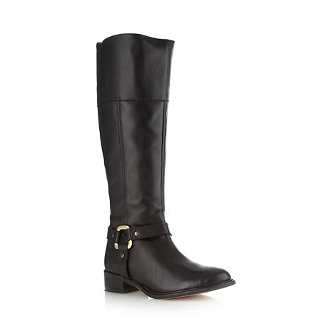RJR.John Rocha - Designer black leather buckle trim high leg boots