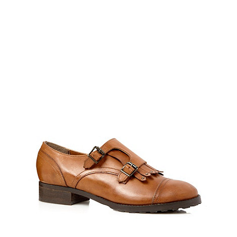 RJR.John Rocha - Designer tan leather fringe front shoes