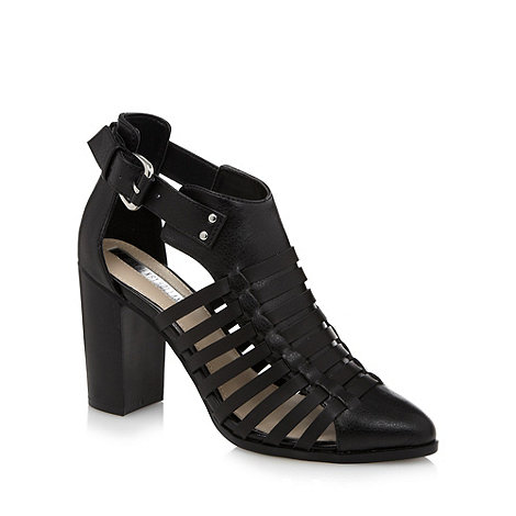 H! by Henry Holland - Designer black caged high sandals