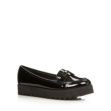 H! by Henry Holland - Designer black patent loafers
