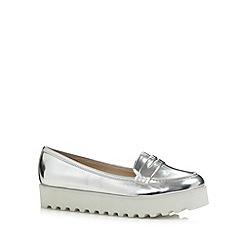 H! by Henry Holland - Designer silver 'flatform' shoes