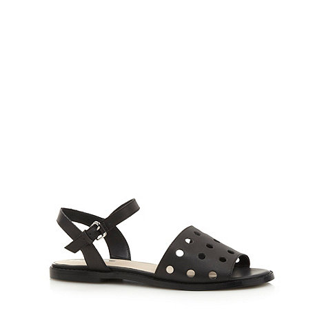 H! by Henry Holland - Designer black cutout dot sandals