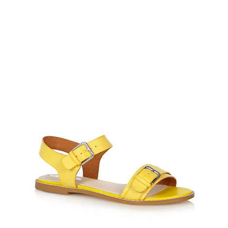H! by Henry Holland - Designer yellow buckle sandals