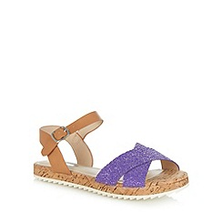 H! by Henry Holland - Designer purple cross strap low sandals
