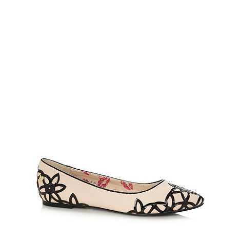 Floozie by Frost French - Cream patent flower pointed toe pumps