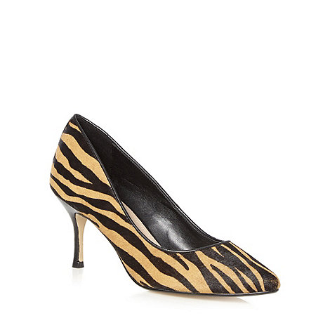 J by Jasper Conran - Designer black animal print pony hair shoes