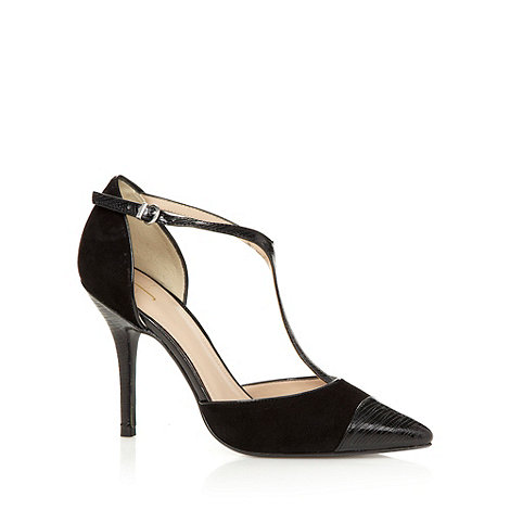 J by Jasper Conran - Designer black T-bar high court shoes