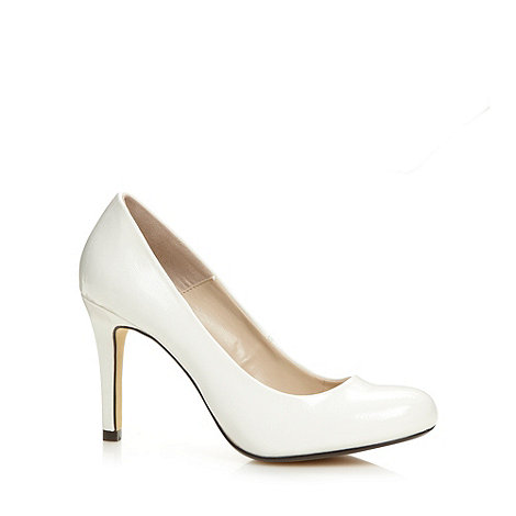 J by Jasper Conran - Designer white patent crosshatch court shoes