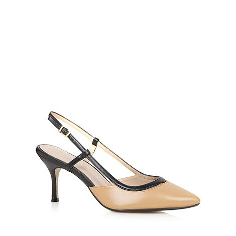 J by Jasper Conran - Designer camel leather slingback court shoes