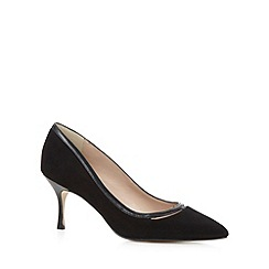 J by Jasper Conran - Designer black suede leather pointed toe court shoes