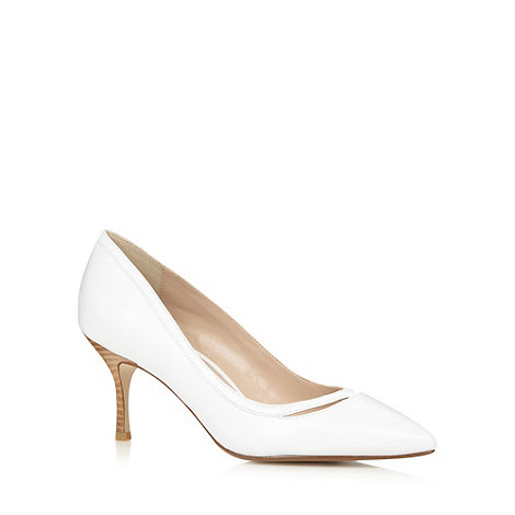 J by Jasper Conran - Designer white leather pointed toe court shoes