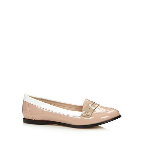 J by Jasper Conran - Designer light pink panel loafers