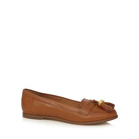 J by Jasper Conran - Designer tan leather tassel detail loafers
