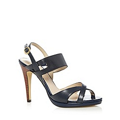 J by Jasper Conran - Designer navy cross strap high sandals