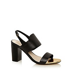 J by Jasper Conran - Designer black leather high sandals