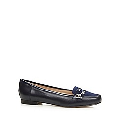 J by Jasper Conran - Designer navy suede panel patent trim leather pumps