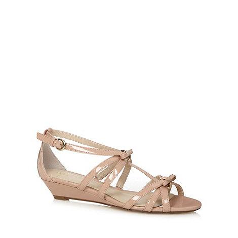 J by Jasper Conran - Designer pale pink patent mini wedge sandals