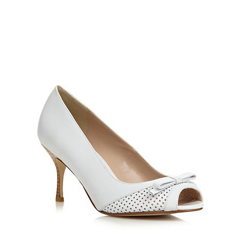 J by Jasper Conran - Designer white punched peep toe heeled shoe