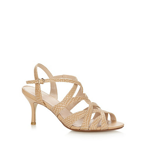 J by Jasper Conran - Designer natural caged snake high sandals