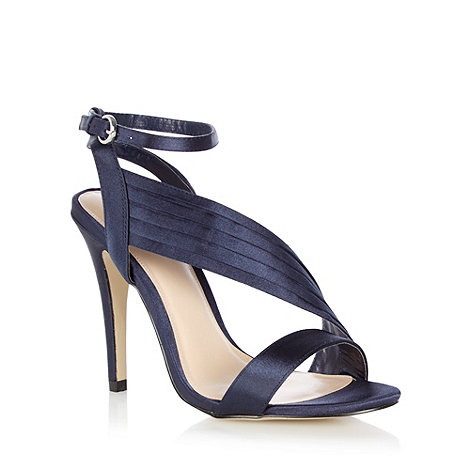 J by Jasper Conran - Navy +Jumana+ asymmetric heeled sandals