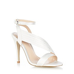 J by Jasper Conran - Ivory 'Jumana' asymmetric heeled sandals