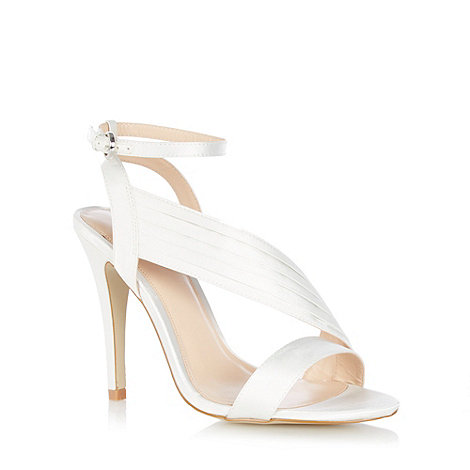 J by Jasper Conran - Ivory +Jumana+ asymmetric heeled sandals