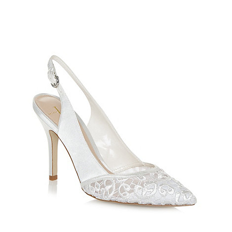 J by Jasper Conran - Designer ivory embroidered toe high court shoes