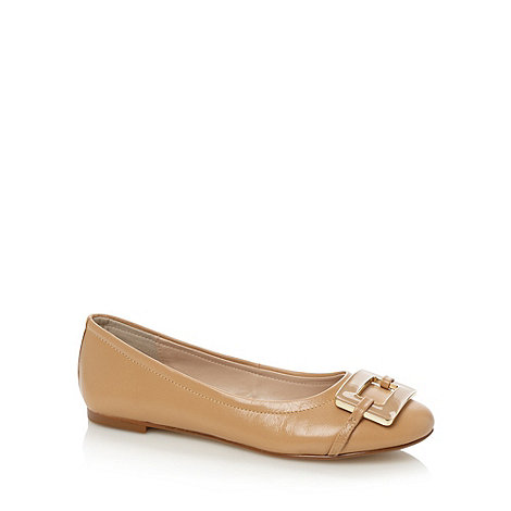J by Jasper Conran - Designer camel enamel square trim leather pumps