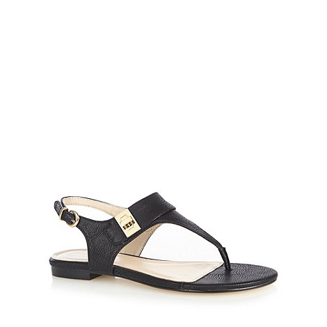 J by Jasper Conran - Designer black mock twist lock toe post sandals