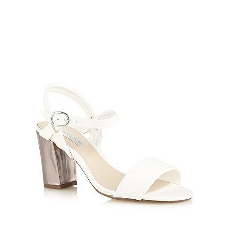 RJR.John Rocha - Designer white metallic block heel sandals