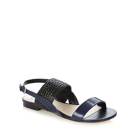 RJR.John Rocha - Designer navy weave strap sandals