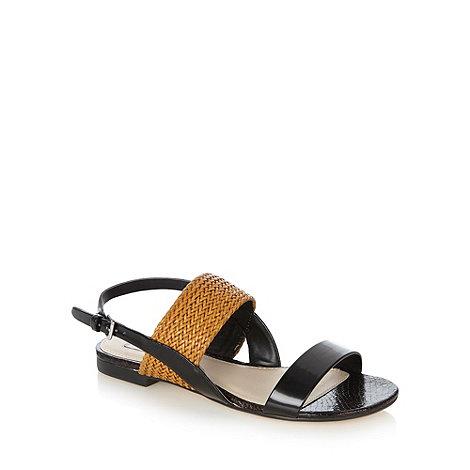 RJR.John Rocha - Designer black weave strap sandals