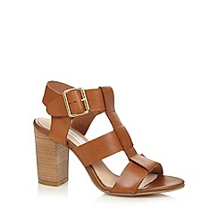 RJR.John Rocha - Designer tan leather strap high block heel sandals