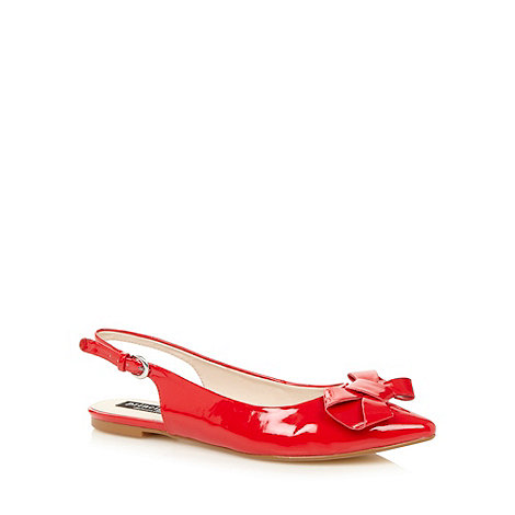 Principles by Ben de Lisi - Designer red patent bow slingback pumps