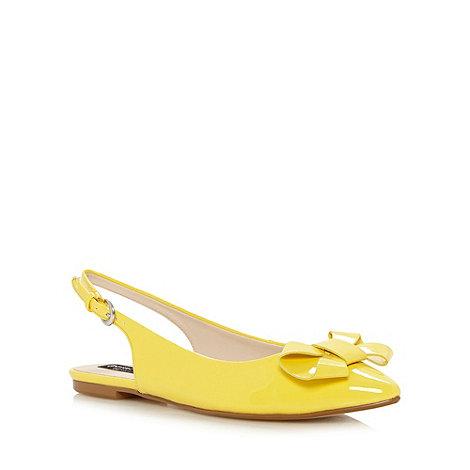 Principles by Ben de Lisi - Designer yellow patent bow slingback pumps