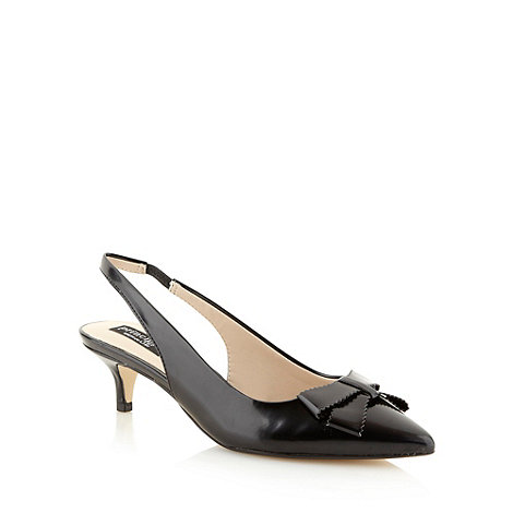 Principles by Ben de Lisi - Designer black bow detail slingback mid court shoes